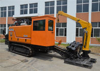 Crawler Hdd Drilling Rig With Manual Cable Laying Equipment / Hdd Directional Drilling
